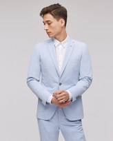 Chambray Cotton Two Button Tailored Jacket