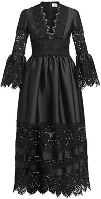 Erdem Irmina Mikado Lace Dress