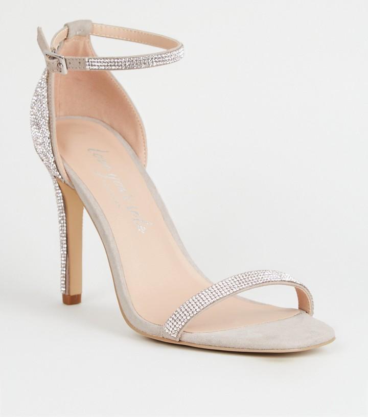 New Look Diamante 2 Part Stilettos