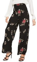 Missguided Women's Wide Leg Floral Print Pants