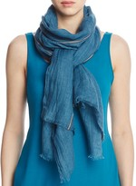 Eileen Fisher Semi-Sheer Stripe Scarf