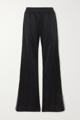 Fendi Jacquard-trimmed Jersey Track Pants - Black