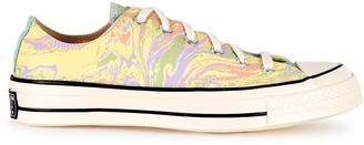 Converse Chuck 70 marble-print canvas sneakers