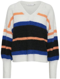 Gestuz Multicolour Wool and Nylon Cloud Dancer Nela Pullover - wool   Multicolour   s