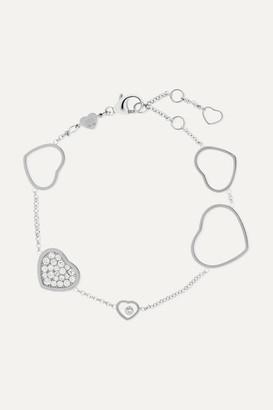 Chopard Happy Hearts 18-karat White Gold Diamond Bracelet - one size