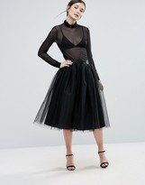 Amy Lynn Mesh Layered Skirt
