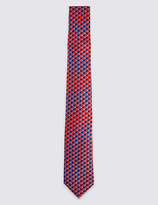 M&S Collection Pure Silk Elephant Print Tie