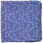 The Tie Bar Light Blue Floral Acres Pocket Square