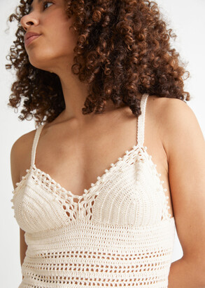 And other stories Crochet Knit Pearl Tank Top