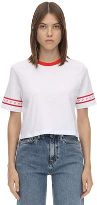 Calvin Klein Jeans CROPPED LOGO SIDE TAPE T-SHIRT