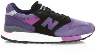 New Balance Men's 998 Made in US Suede & Mesh Sneakers