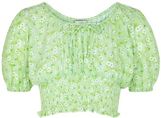 Faithfull The Brand Anne Laure Floral-print Cropped Top