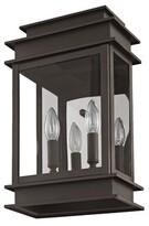 "575 Denim Gobinda 2-Light Outdoor Wall Lantern Gracie Oaks Finish: Bronze, Size: 14"" H x 7.5"" W x D"