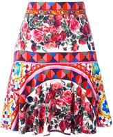 Dolce & Gabbana Mambo print pleated skirt - women - Silk/Spandex/Elastane - 42
