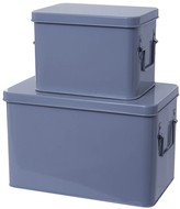 Present Time Metal Storage Boxes - Set of 2
