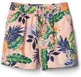 Print poplin dolphin shorts