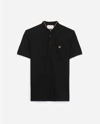 The Kooples Embroidered cotton polo shirt stand-up collar