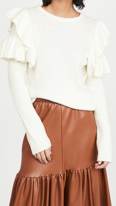 ENGLISH FACTORY Ruffle Detail Sweater