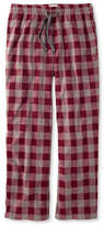 L.L. Bean L.L.Bean Fleece Pants, Plaid