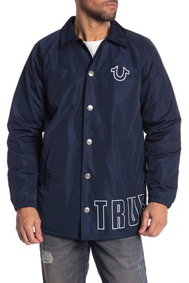 True Religion Faux Fur Lined Coaching Jacket