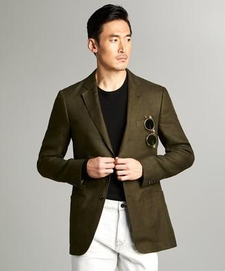 Todd Snyder Sutton Linen Sport Coat in Olive