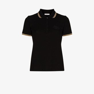 Moncler Metallic Trim Polo Shirt