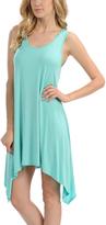 Aqua Sleeveless Sidetail Dress