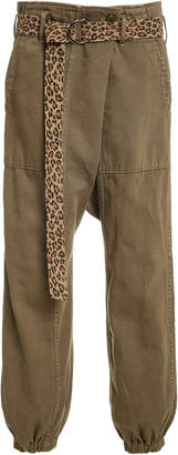 R 13 Khaki Belted Drop Pants