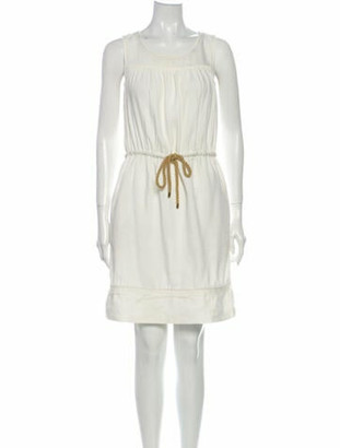 Burberry Linen Mini Dress White