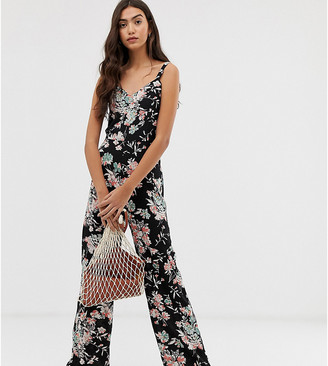 Brave Soul Tall cecily jumpsuit in floral print