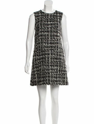Dolce & Gabbana Wool Mini Dress Black