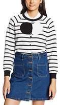 Peter Jensen Women's Stripe Cardigan,(Manufacturer Size:Large)