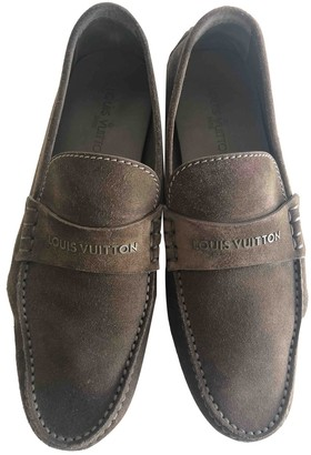 Louis Vuitton Brown Suede Flats