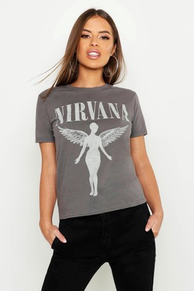 boohoo Petite Nirvana Licensed T-Shirt