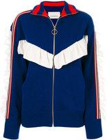 Laneus striped zipped sweater