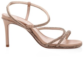 Schutz Twyla Fay Crystal-Embellished Leather Sandals