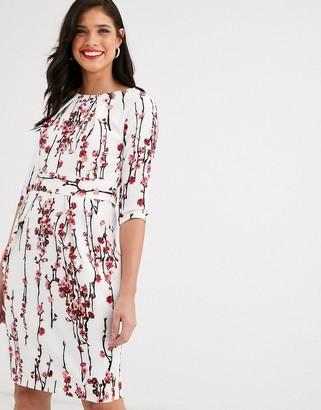 Closet London Closet 3/4 sleeve tulip dress-White