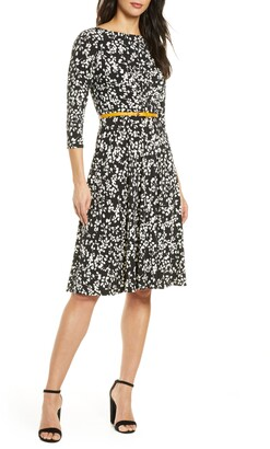 Harper Rose Belted Fit & Flare Dress