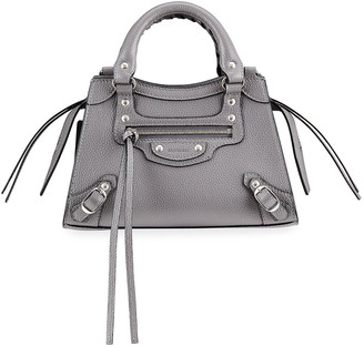 Balenciaga Neo Classic City Mini Grained Leather Satchel Bag