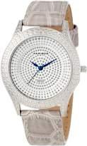 Akribos XXIV Women's AKR464GY Diamond Brilliance Swiss Quartz Strap Watch