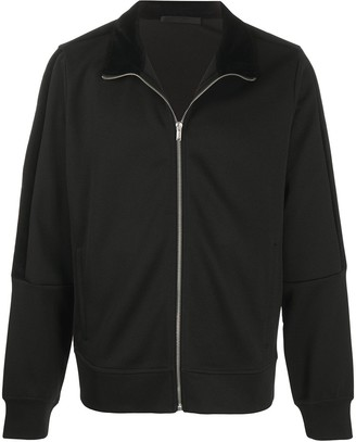 Helmut Lang Contrast Collar Zip-Up Jacket