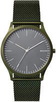 Skagen Men's Jorn Green Stainless Steel Mesh Bracelet Watch 41mm