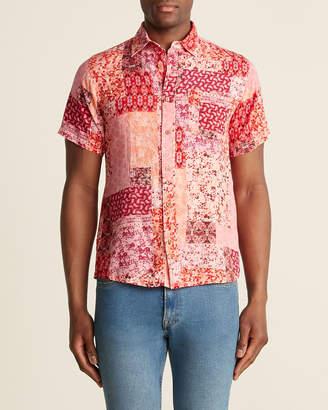 Raga Man Abstract Paisley Pocket Shirt