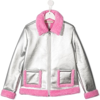 Emilio Pucci Junior TEEN contrasting shearling lining jacket