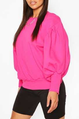 boohoo Petite Volume Sleeve Sweat Shirt