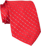 JCPenney Stafford Grid Silk Tie - Extra Long