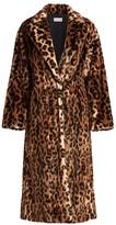 RED Valentino Leopard-Print Faux Fur Coat