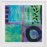 Minted Abstract with Leaves Art Print