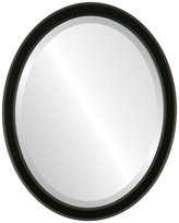"""The Oval And Round Mirror Store Toronto Framed Oval Mirror in Matte Black, 21""""x25"""""""