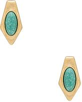 House Of Harlow Valda Stud Earrings in Metallic Gold.